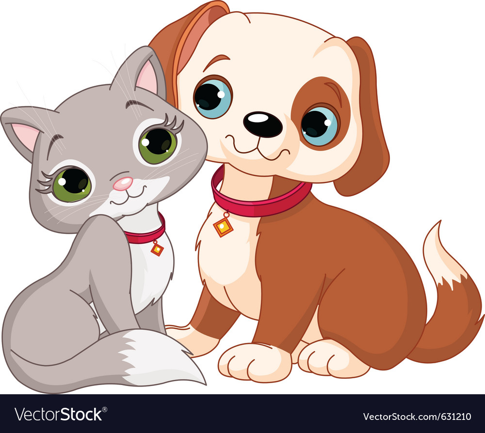 Dog and cat best friends ever vector   Price: 1 Credit (USD $1)