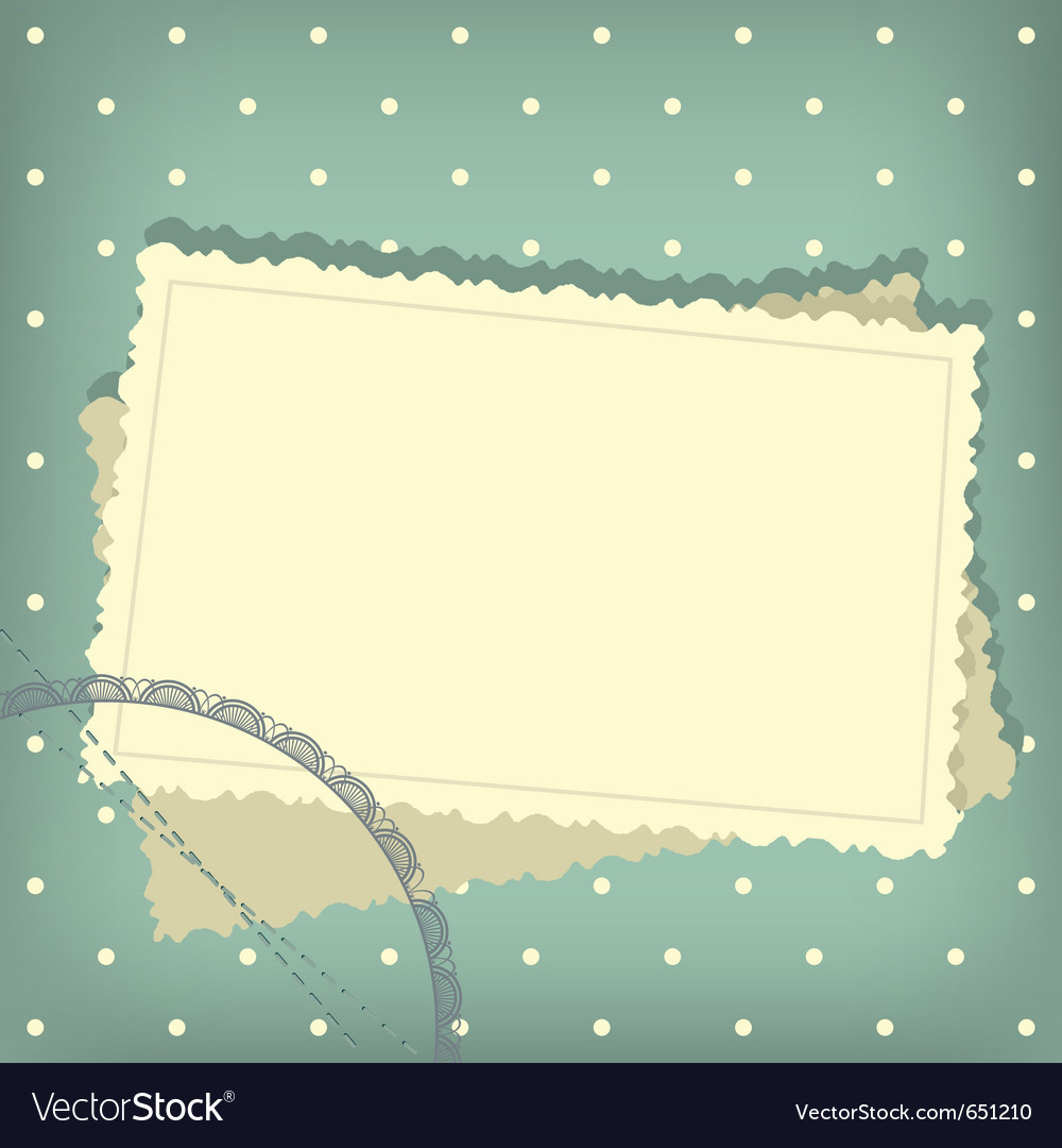 Greeting scrap retro background vector | Price: 1 Credit (USD $1)