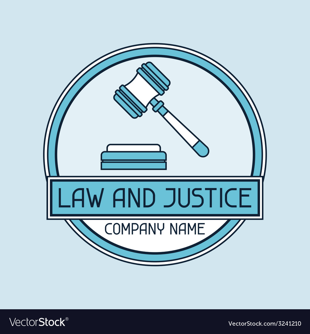 Law and justice company name concept emblem vector | Price: 1 Credit (USD $1)