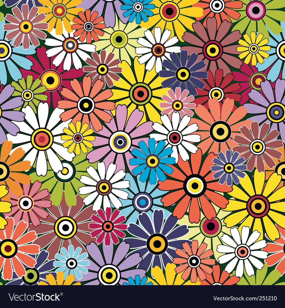 Motley floral pattern vector | Price: 1 Credit (USD $1)