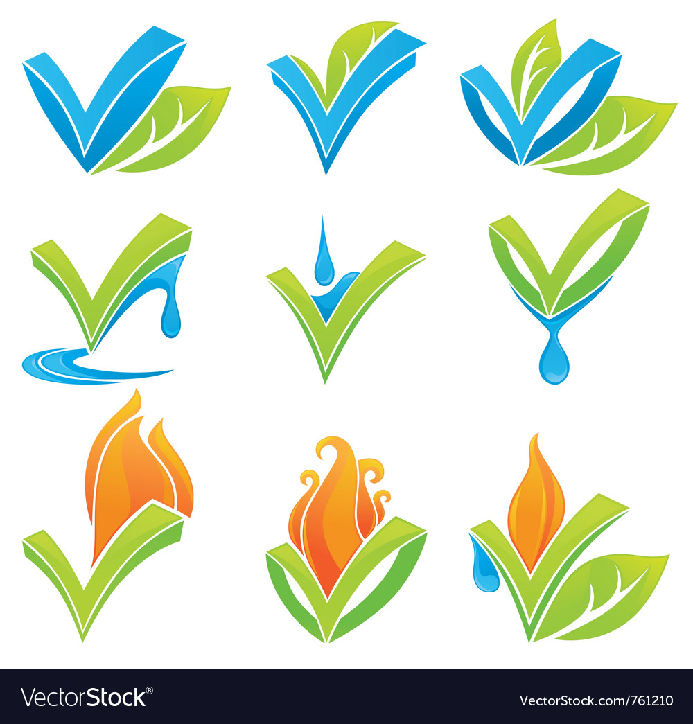 Nature symbols vector | Price: 1 Credit (USD $1)