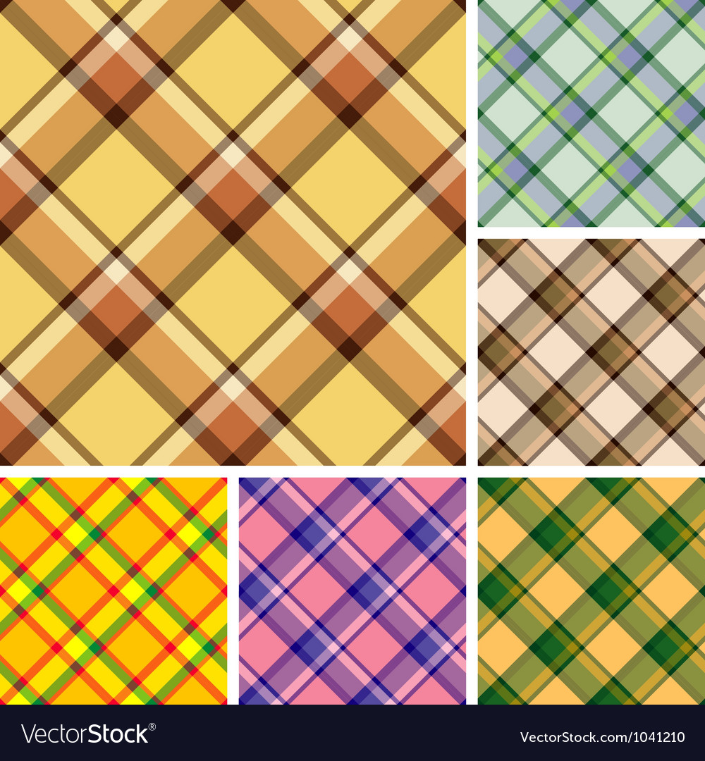 Seamless plaid patterns vector | Price: 1 Credit (USD $1)