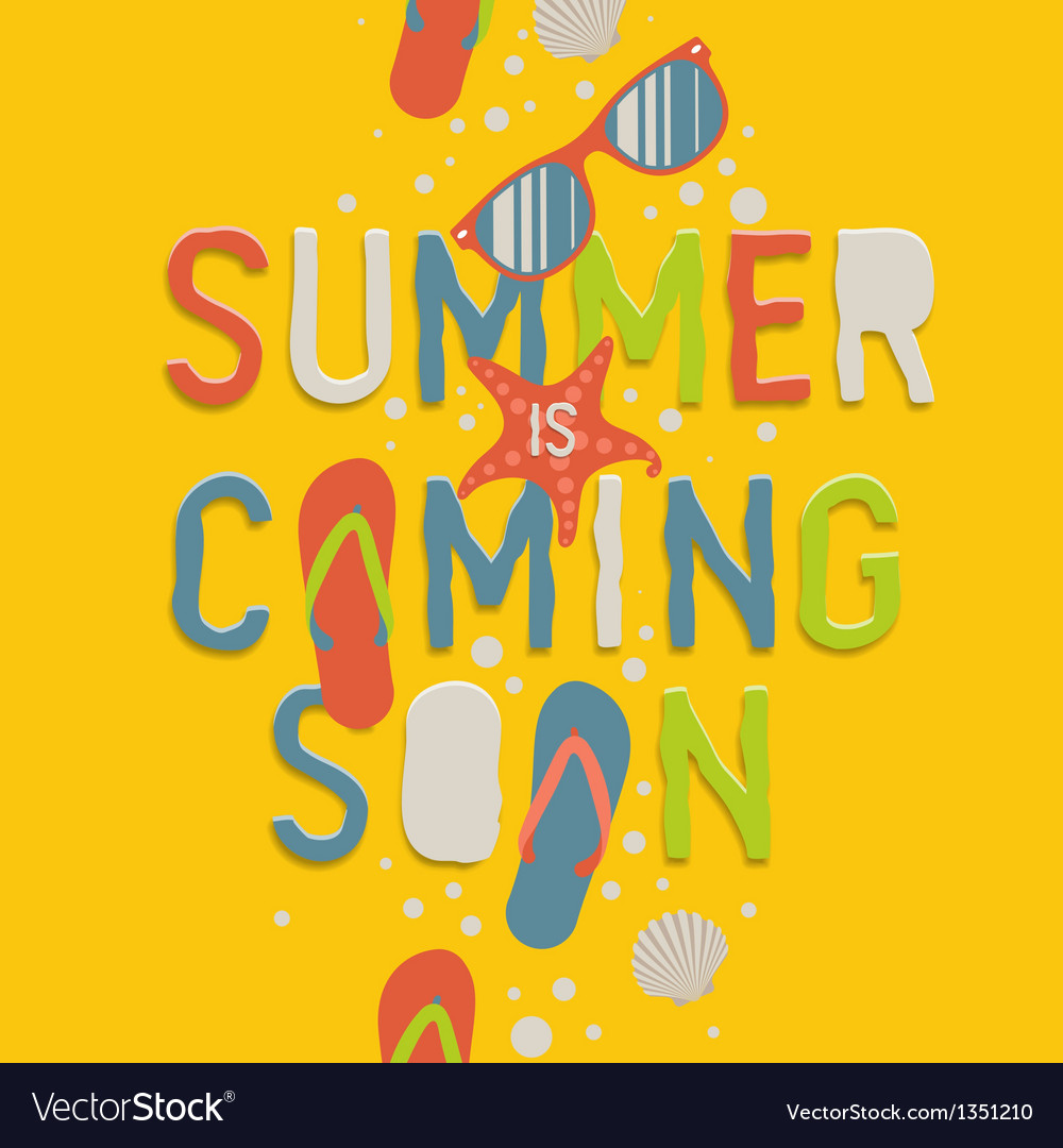 Summer coming soon creative graphic background vector | Price: 1 Credit (USD $1)