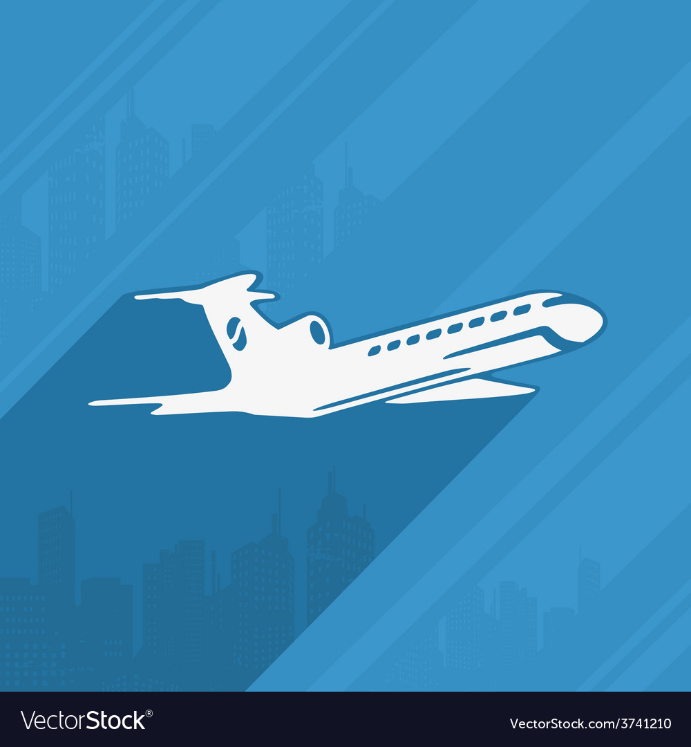 Symbol of the aircraft and the city vector | Price: 1 Credit (USD $1)