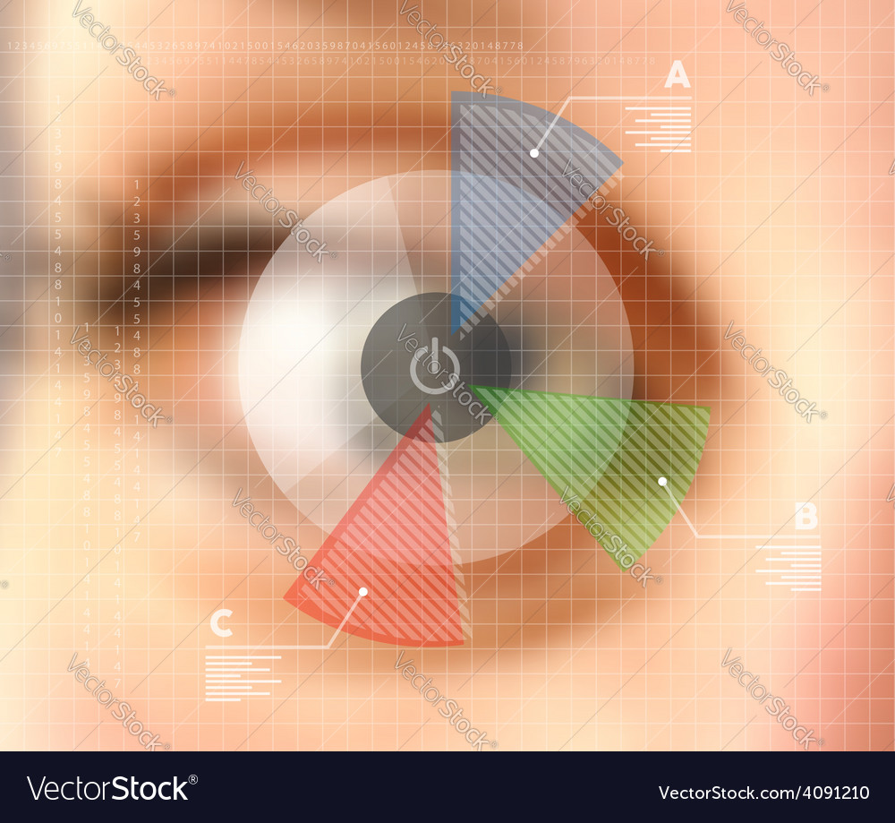 Virtual screen eye infographics blurred effect vector | Price: 1 Credit (USD $1)