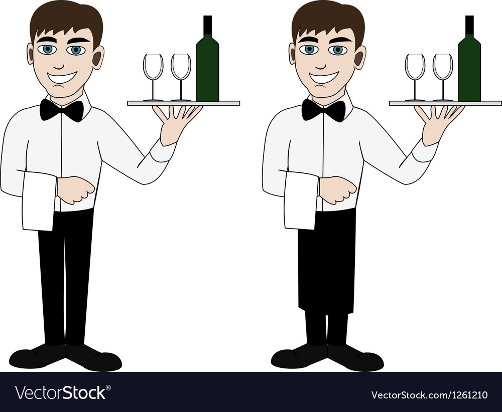 Waiter vector | Price: 3 Credit (USD $3)