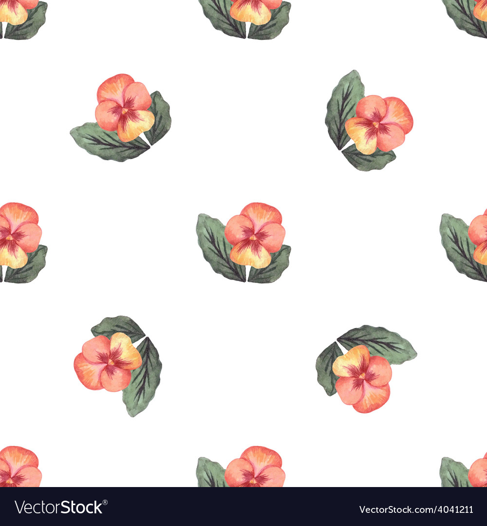 Colorful watercolor floral background seamless vector | Price: 1 Credit (USD $1)