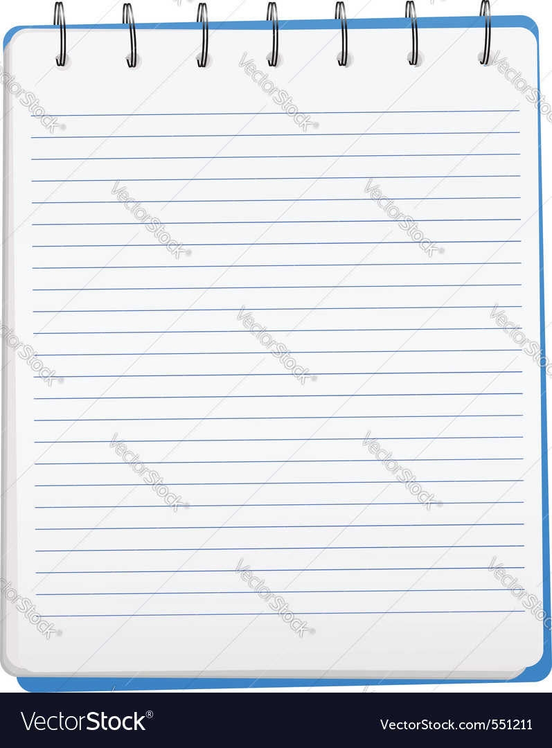 Opened notebook vector | Price: 1 Credit (USD $1)