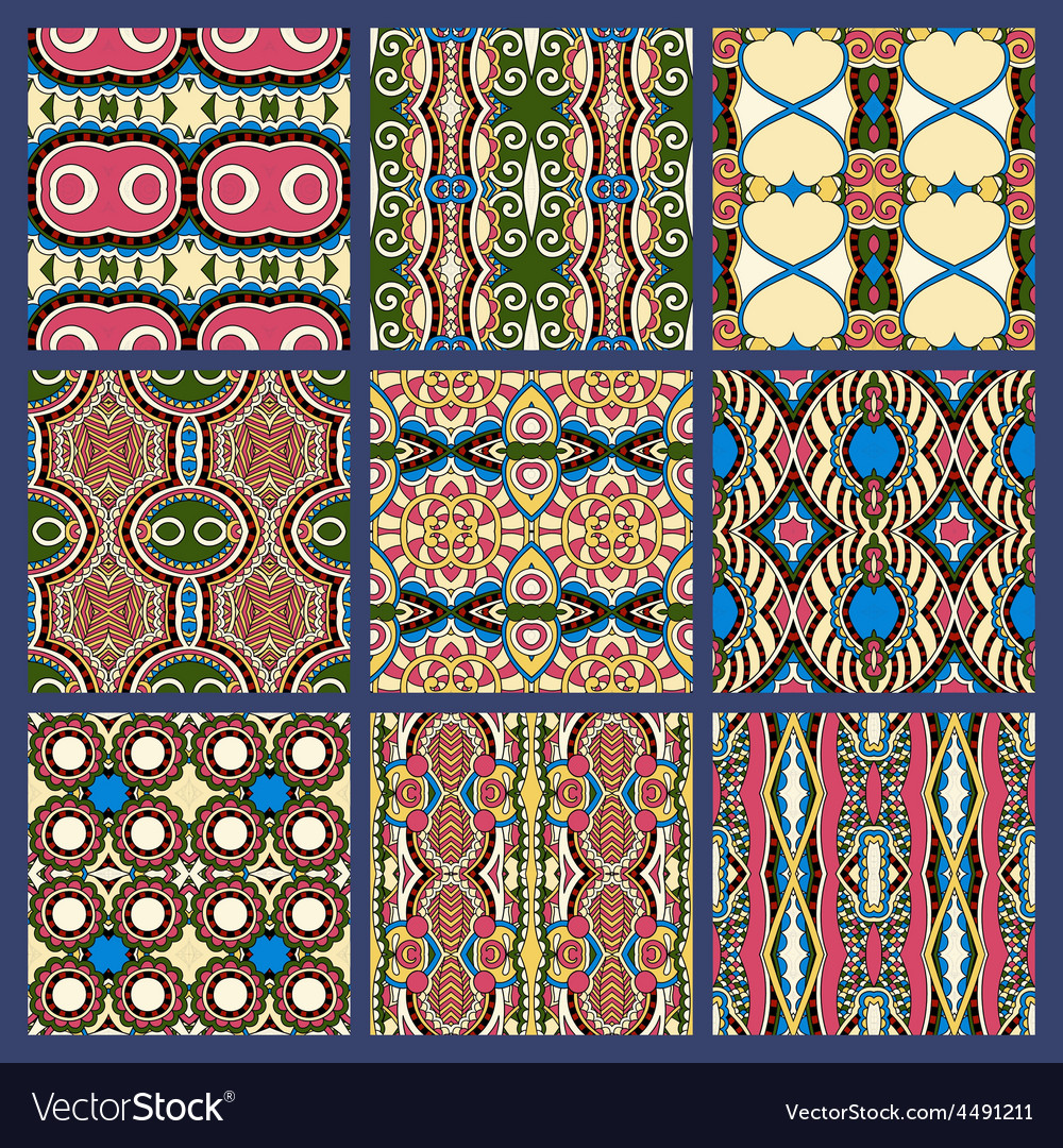 Seamless dirty dark blue vintage geometric pattern vector | Price: 1 Credit (USD $1)