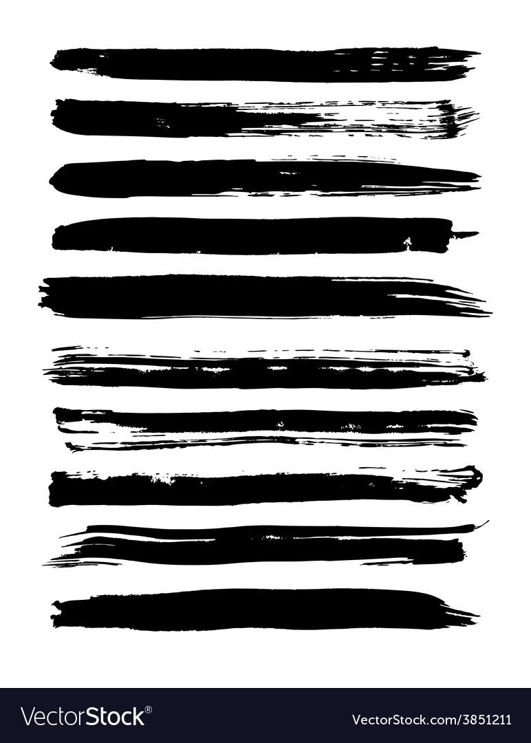 Set of grunge brush strokes vector | Price: 1 Credit (USD $1)