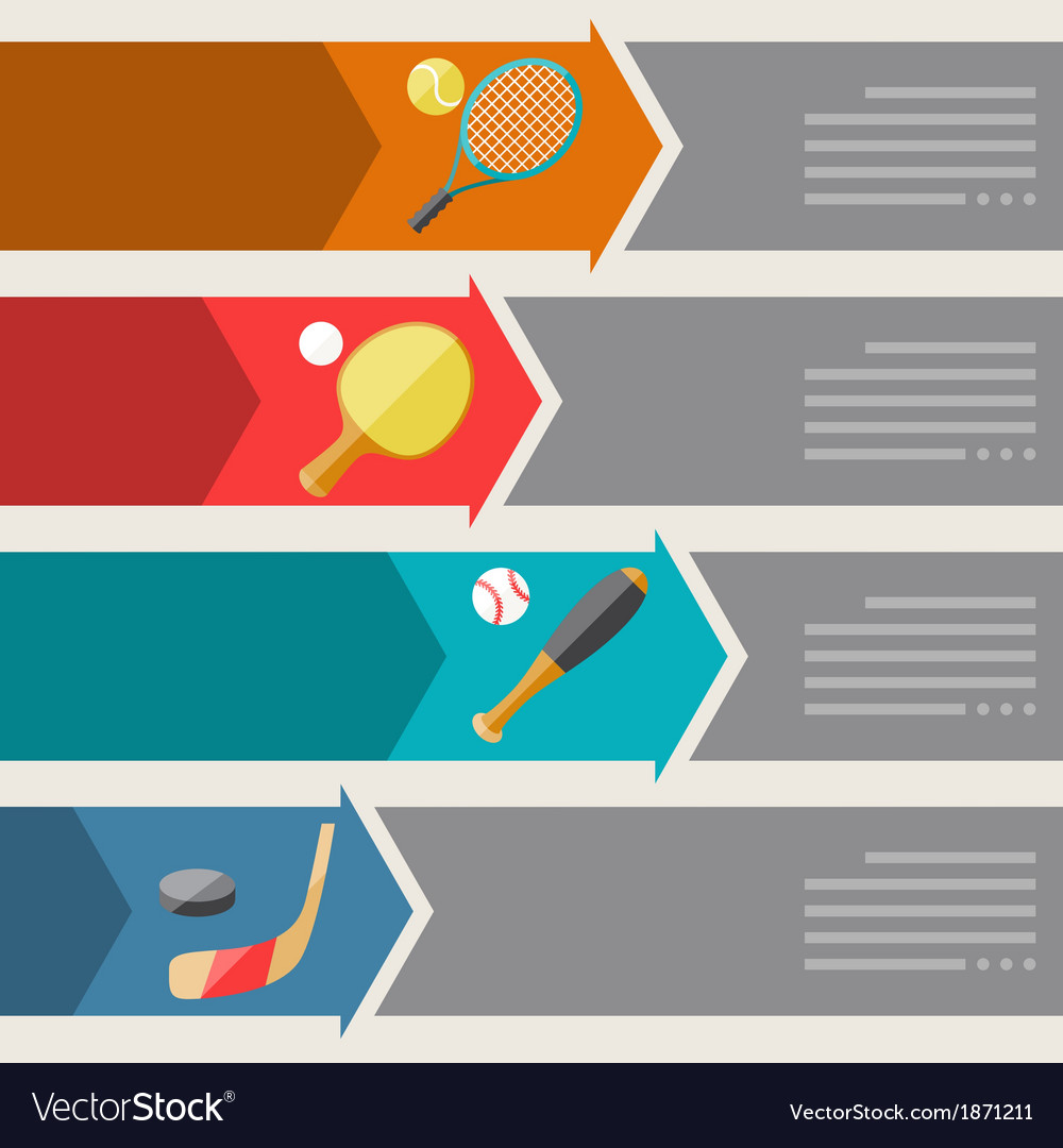 Sports infographics optional banners vector   Price: 1 Credit (USD $1)