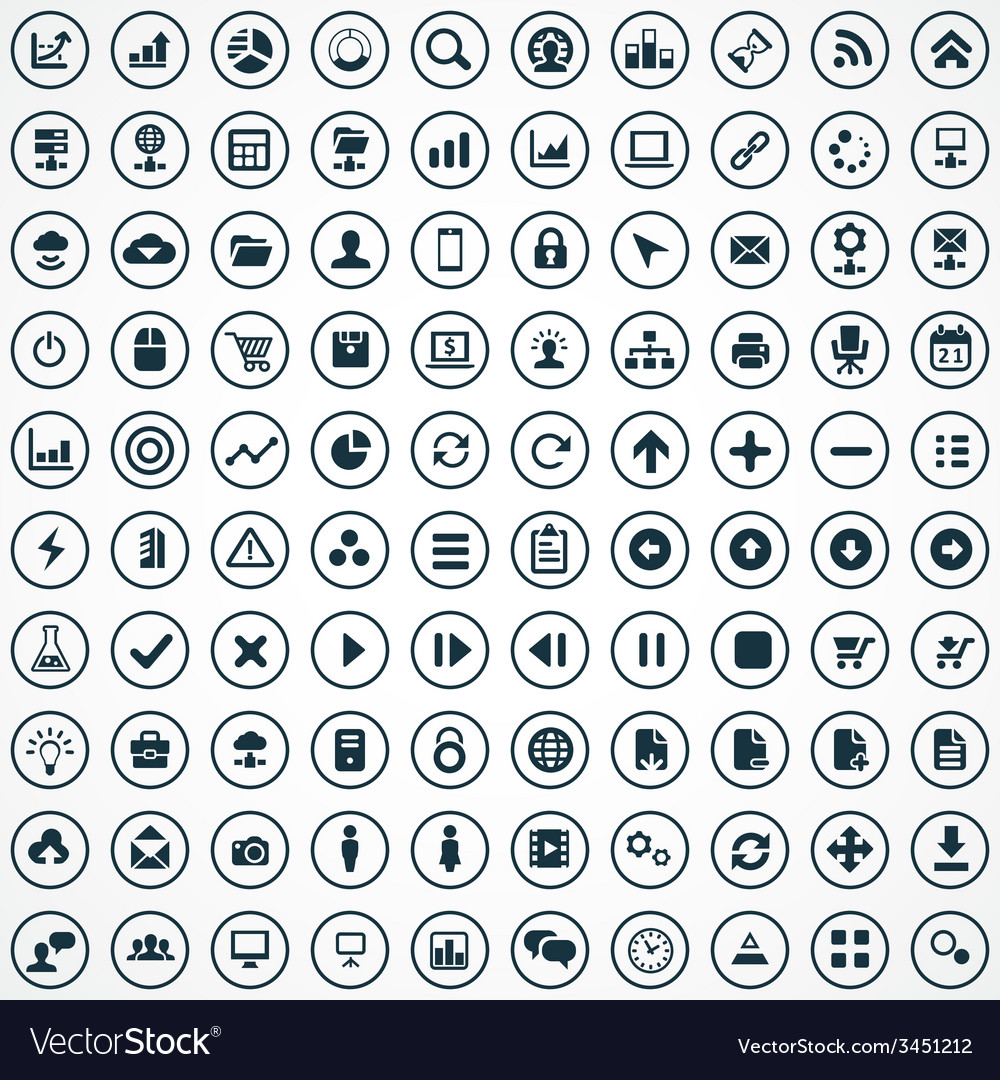 100 development soft icons vector | Price: 1 Credit (USD $1)