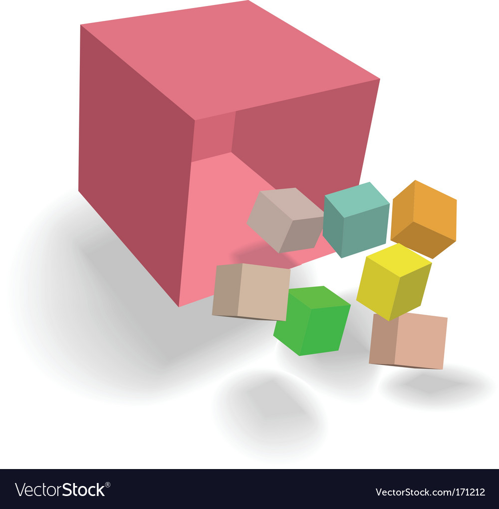 Abstract cubes design vector | Price: 1 Credit (USD $1)
