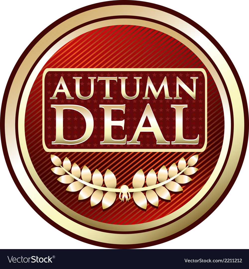 Autumn deal vintage label vector | Price: 1 Credit (USD $1)