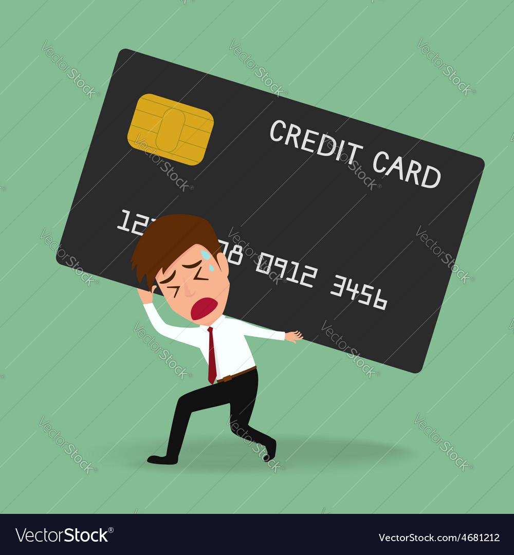 Businessman bearing credit card debt concept vector | Price: 1 Credit (USD $1)