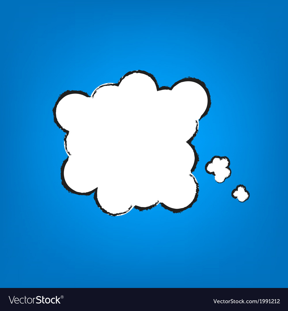 Cartoon thought bubble vector | Price: 1 Credit (USD $1)