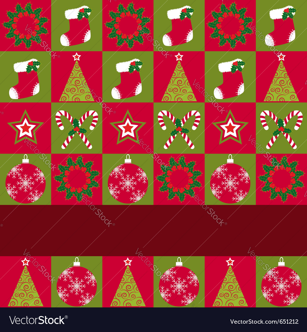 Christmas ornament seamless vector | Price: 1 Credit (USD $1)