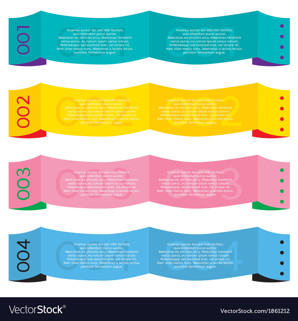 Colorful paper banners vector | Price: 1 Credit (USD $1)