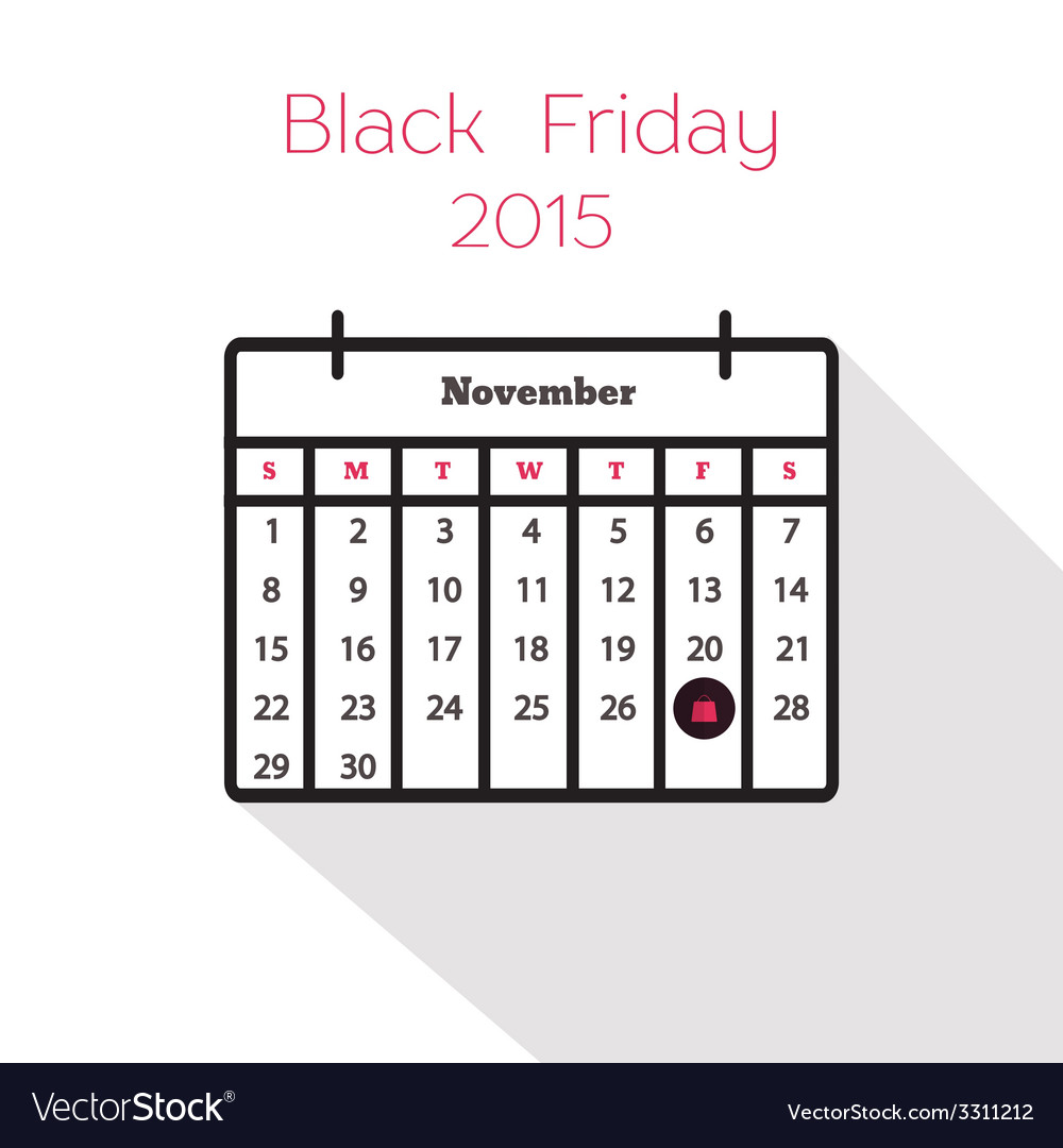 Flat holiday calendar icon vector | Price: 1 Credit (USD $1)