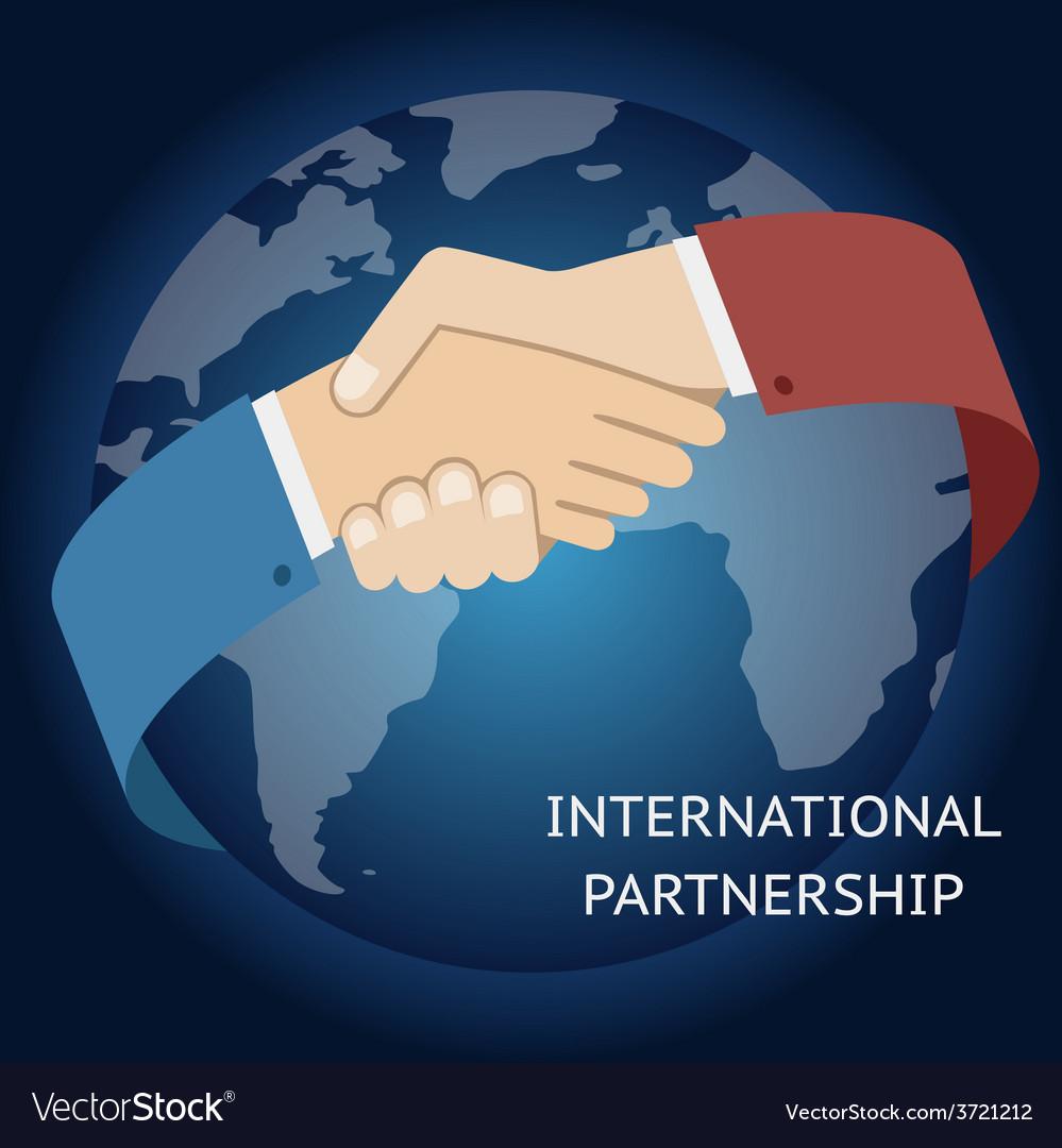 International partnership icon businessman vector | Price: 1 Credit (USD $1)