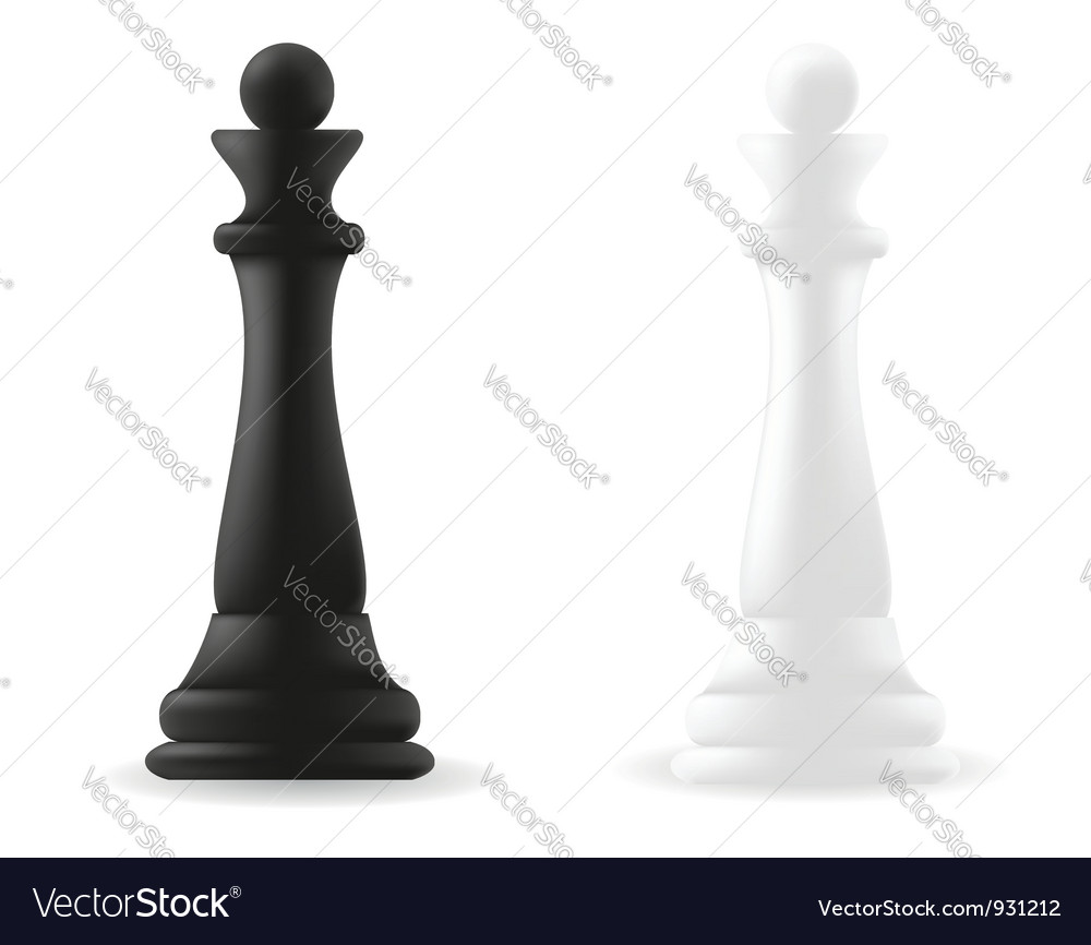 Queen chess piece vector | Price: 1 Credit (USD $1)