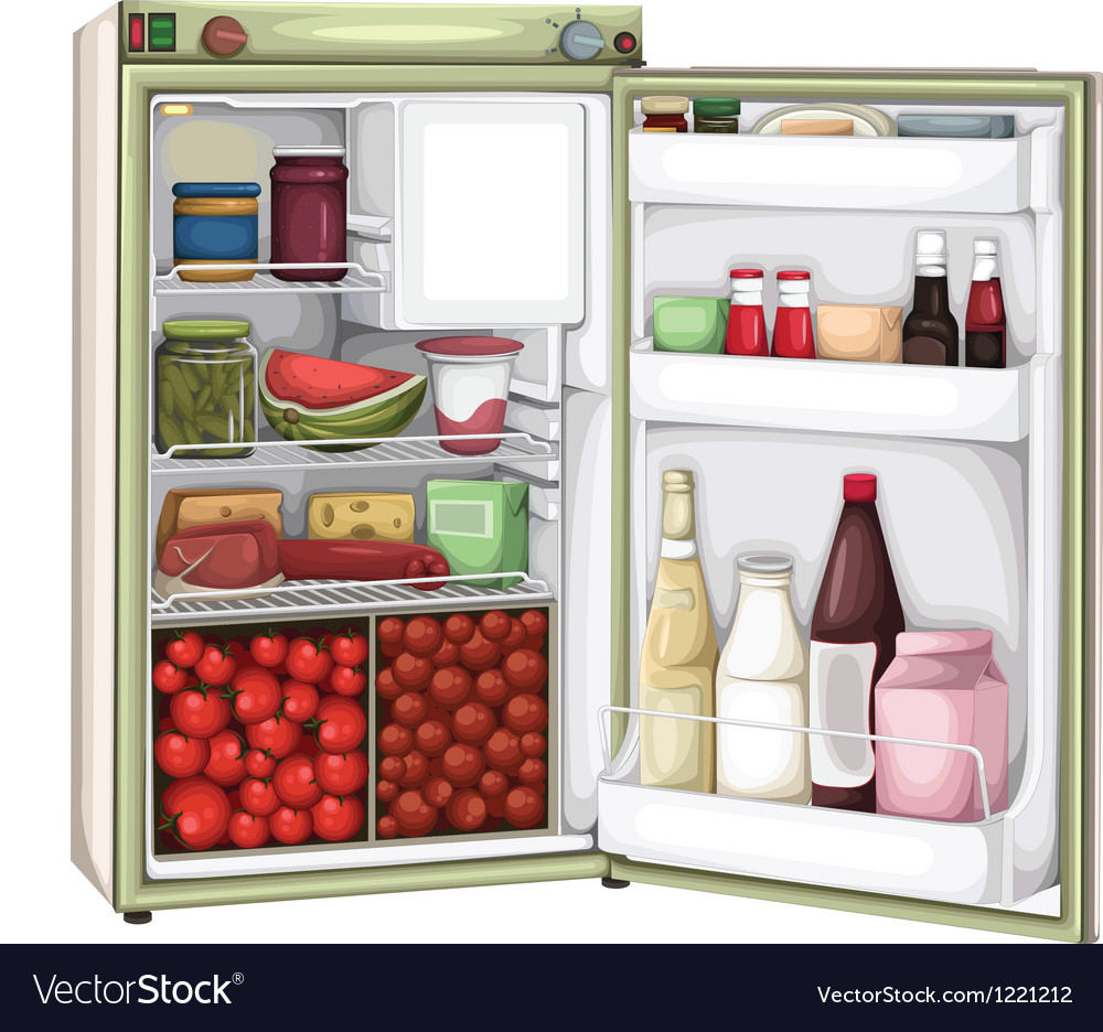 Refrigerator vector | Price: 3 Credit (USD $3)