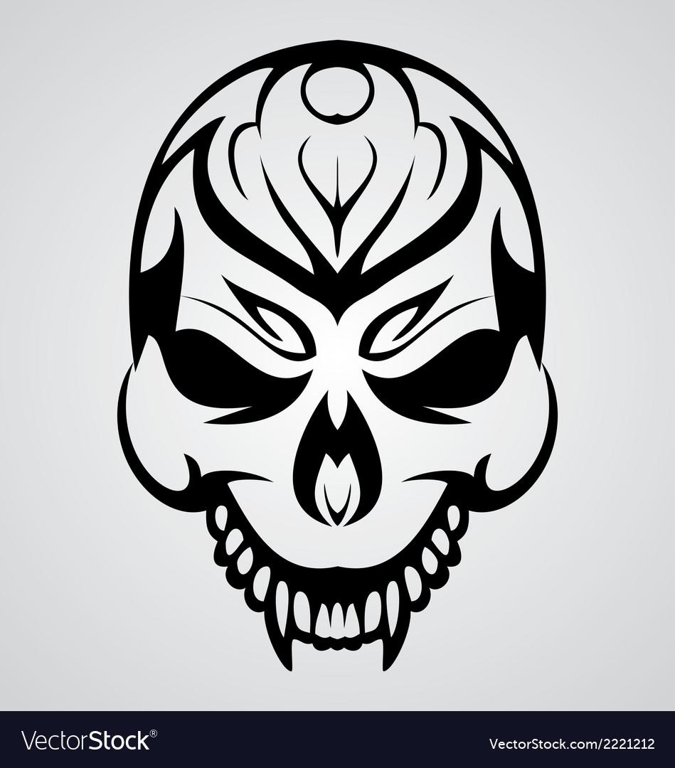 Tribal skull vector | Price: 1 Credit (USD $1)