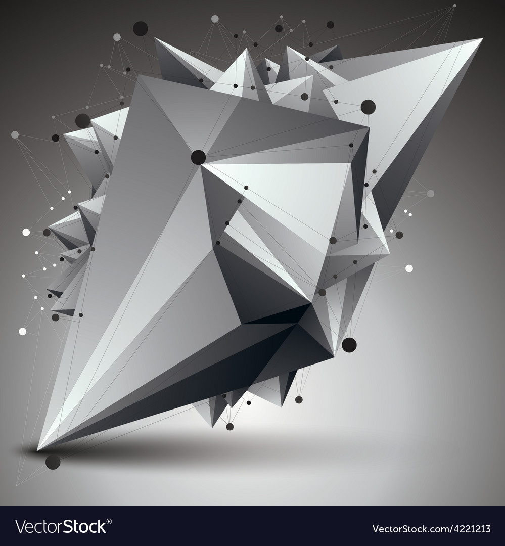 3d mesh modern stylish abstract construction vector | Price: 1 Credit (USD $1)