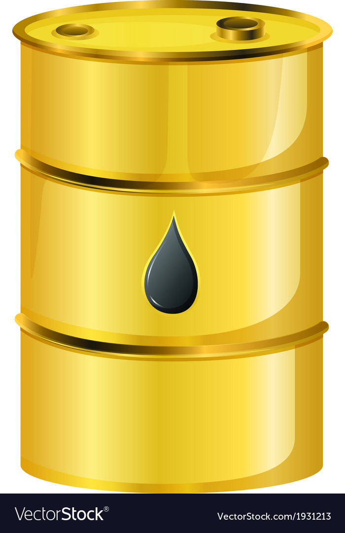 A golden oil barrel vector | Price: 1 Credit (USD $1)