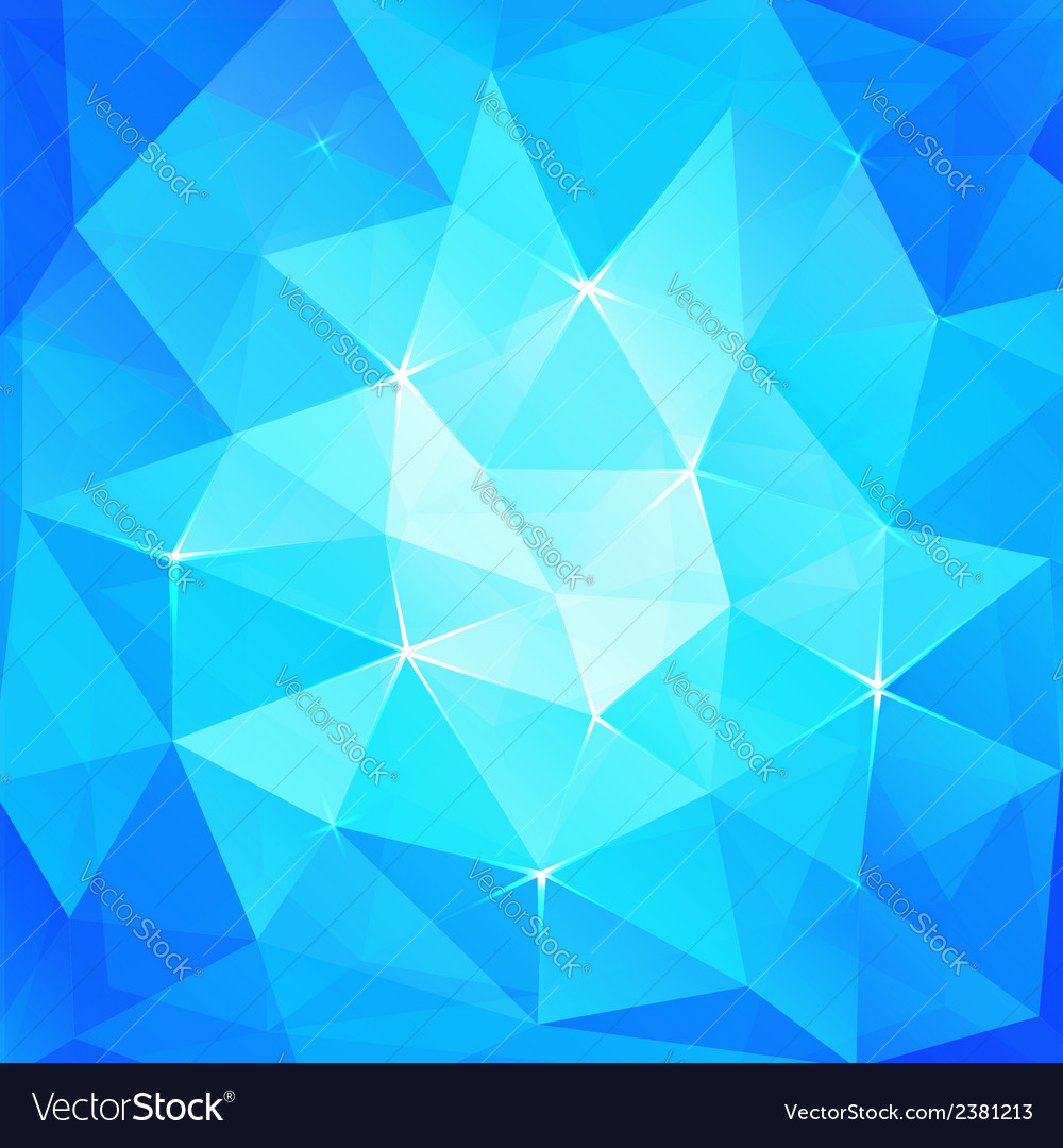 Abstract triangles ice background vector | Price: 1 Credit (USD $1)