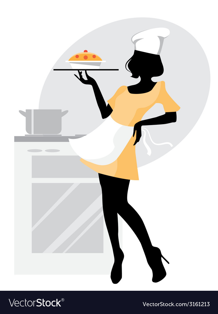 Baker girl vector