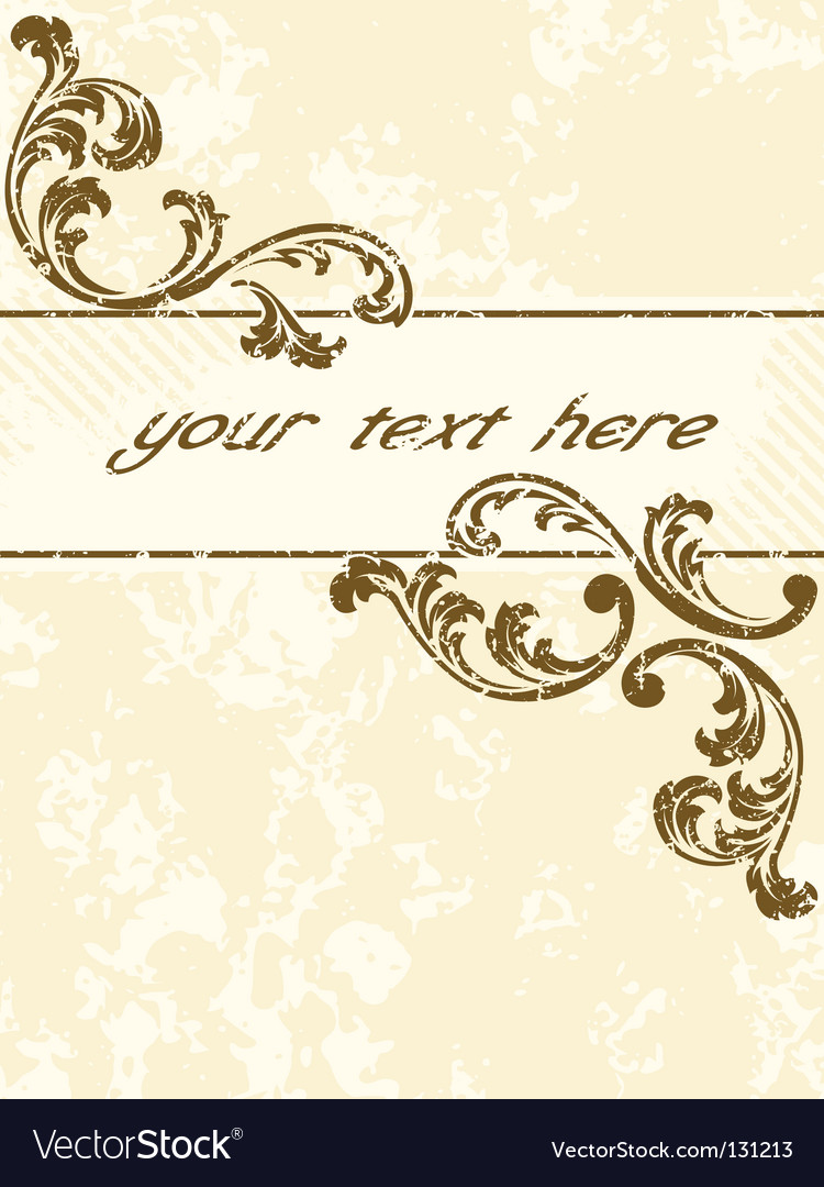 Grungy vintage sepia banner vertical vector | Price: 1 Credit (USD $1)