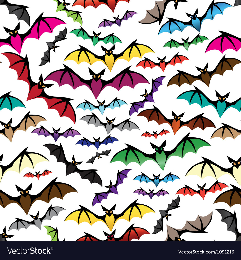 Halloween bat seamless pattern vector | Price: 1 Credit (USD $1)