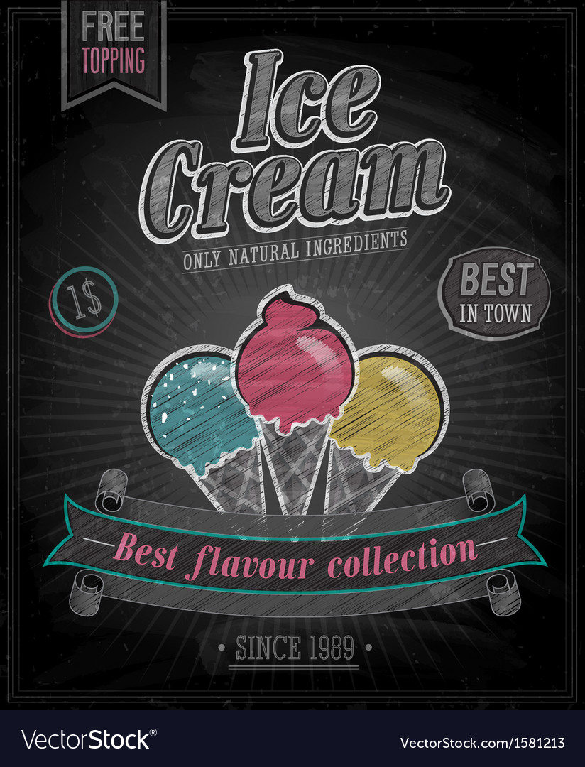 Icecream chalk vector | Price: 1 Credit (USD $1)