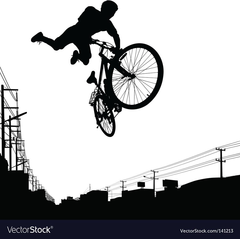 Kid biker vector | Price: 1 Credit (USD $1)