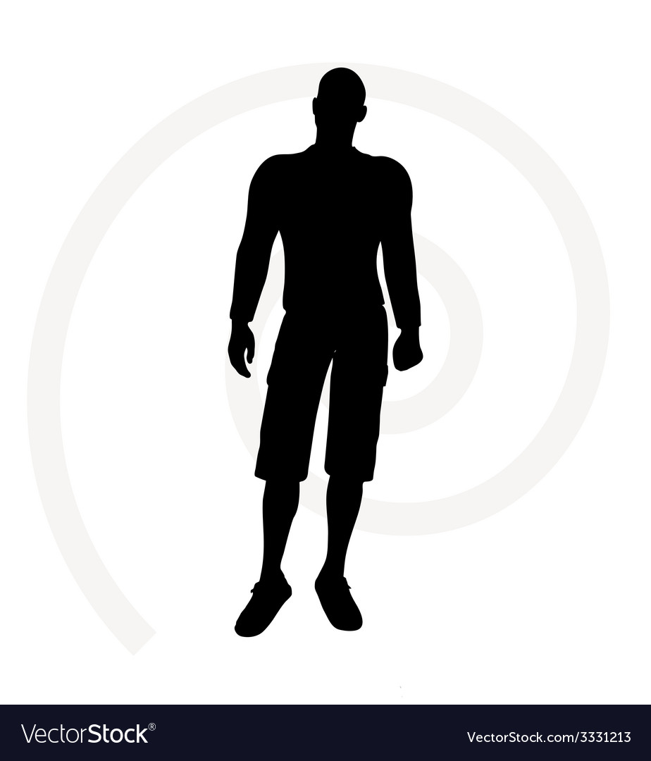 Man silhouette vector | Price: 1 Credit (USD $1)