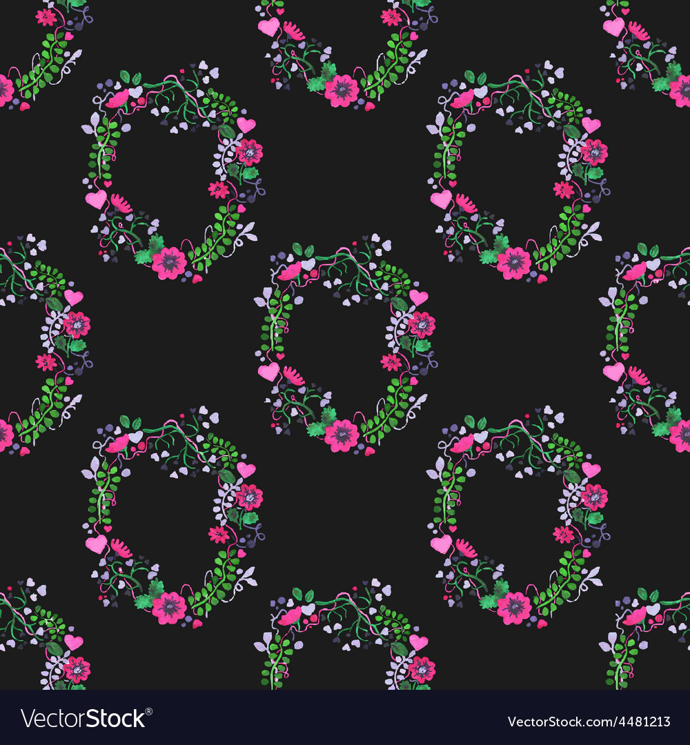 Seamless watercolor pattern with gorgeus flower vector | Price: 1 Credit (USD $1)
