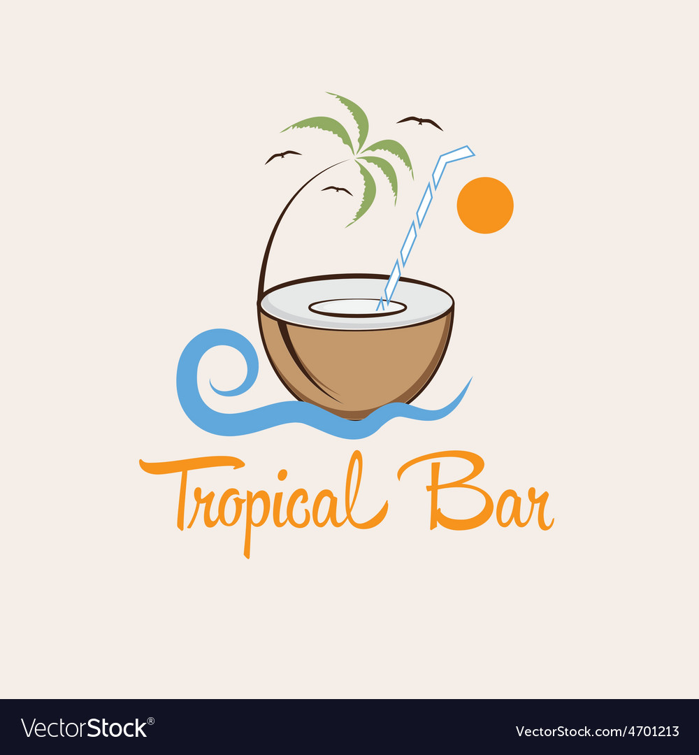 Tropical bar design template vector | Price: 1 Credit (USD $1)