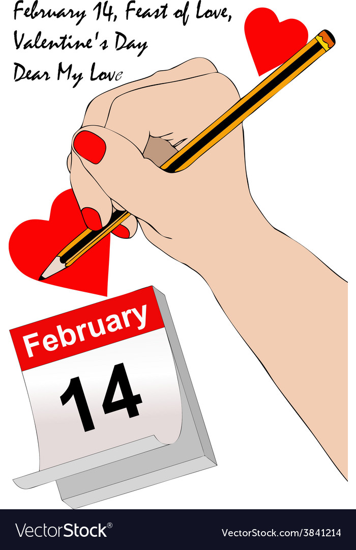 A love letter for valentines day vector   Price: 1 Credit (USD $1)