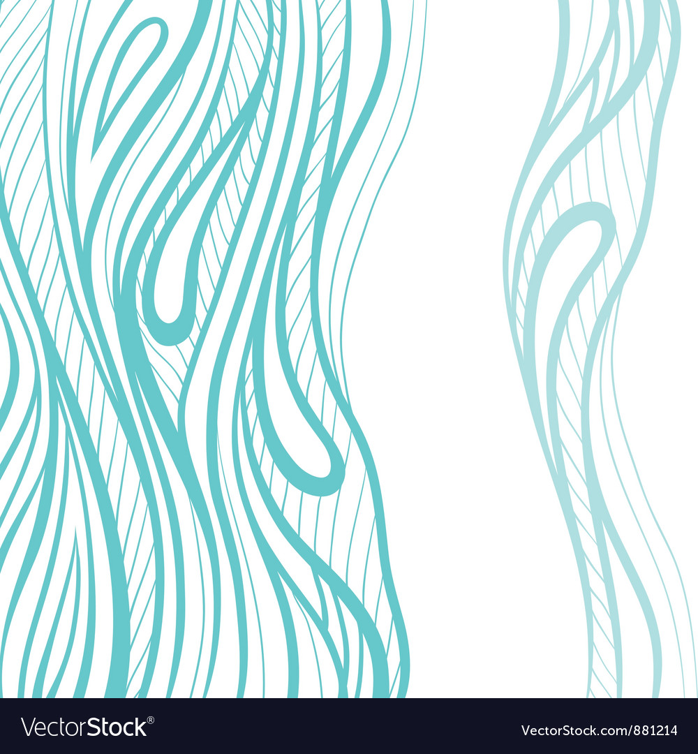 Abstract hand drawn  decotative waves background vector | Price: 1 Credit (USD $1)