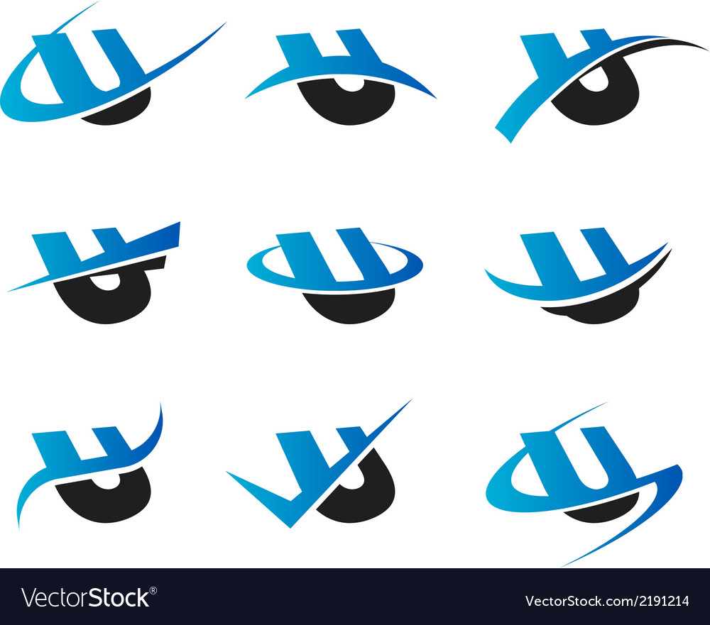 Alphabet u icons vector   Price: 1 Credit (USD $1)