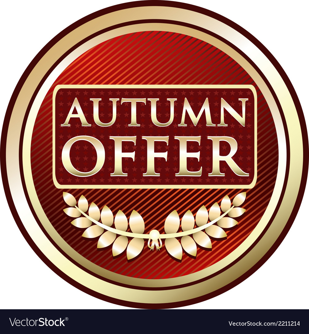 Autumn offer red label vector | Price: 1 Credit (USD $1)