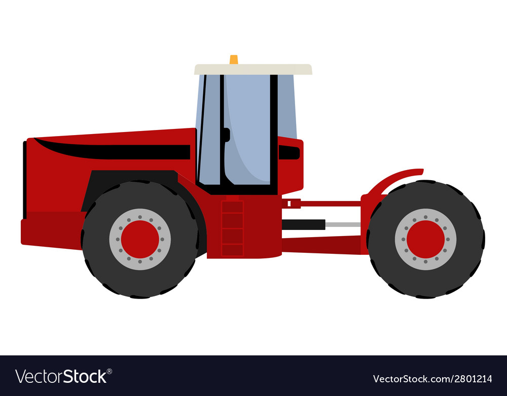 Big red tractor vector | Price: 1 Credit (USD $1)