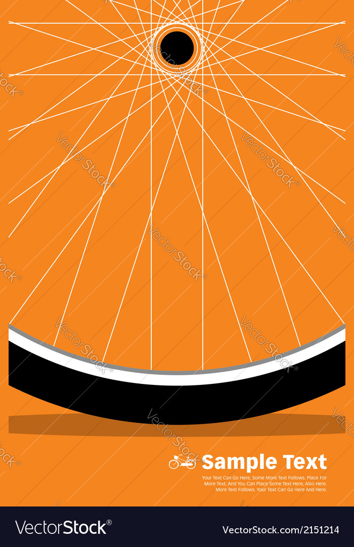 Bike poster wheel vector | Price: 1 Credit (USD $1)