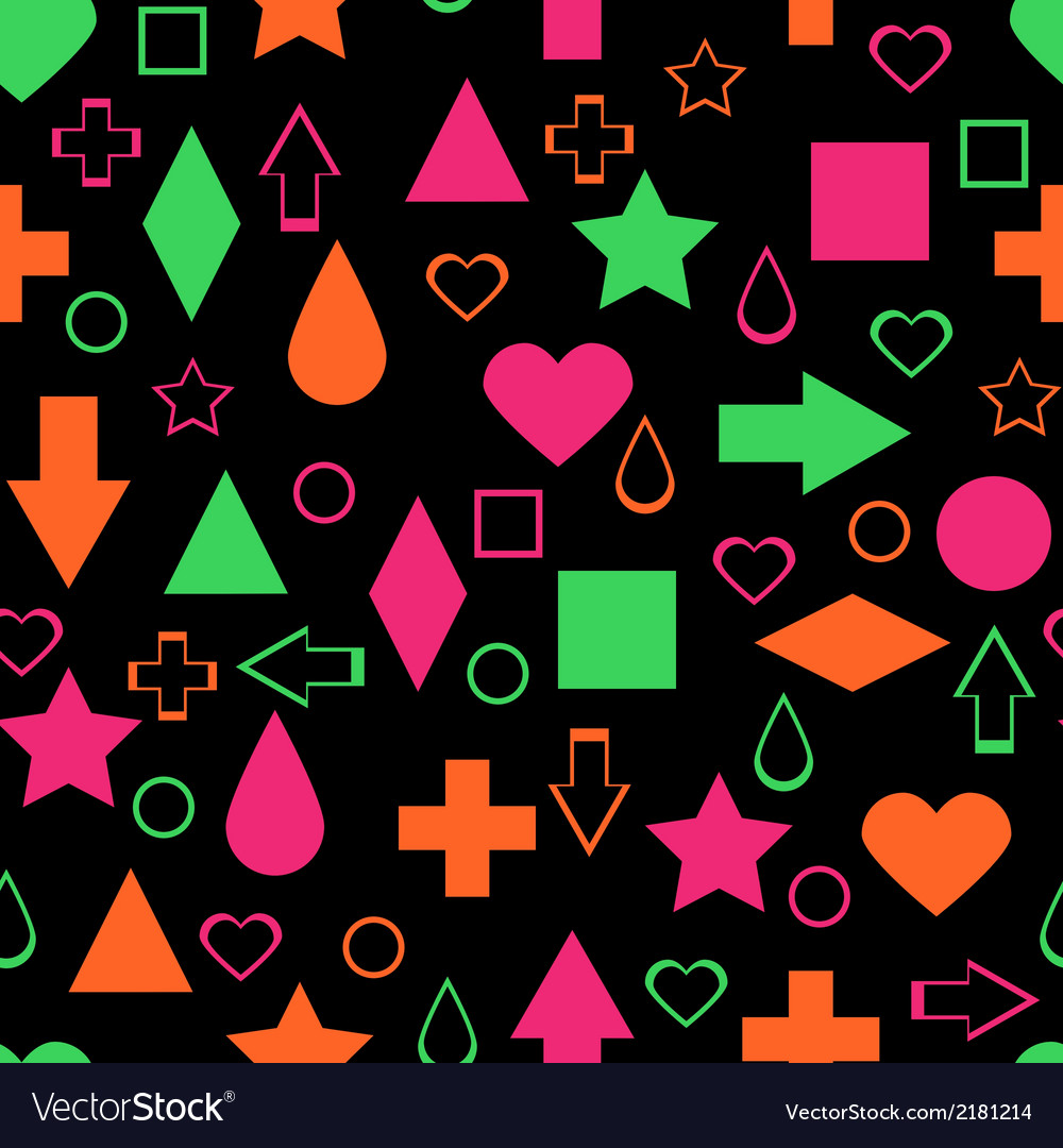 Bright abstract elements seamless pattern vector | Price: 1 Credit (USD $1)