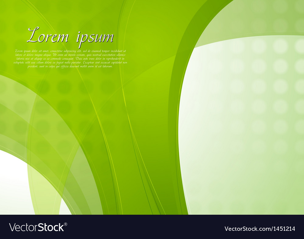 Bright green waves template vector | Price: 1 Credit (USD $1)
