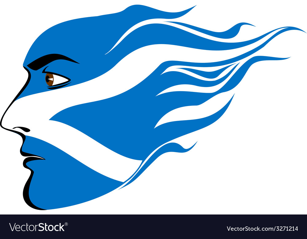 Face of scottish men vector | Price: 1 Credit (USD $1)