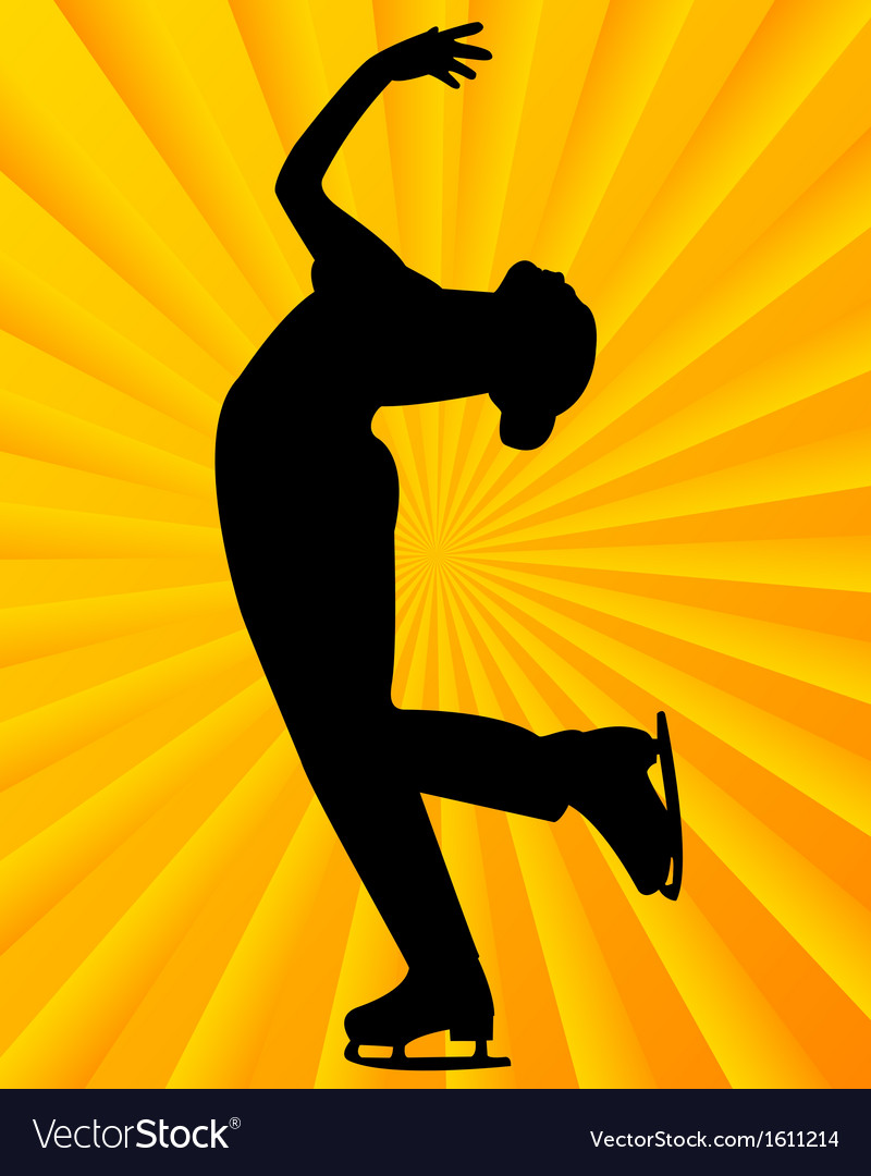 Figure skater5 vector | Price: 1 Credit (USD $1)