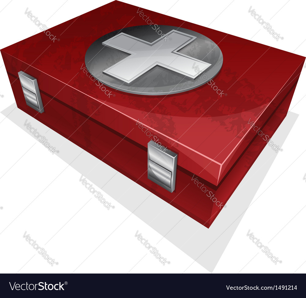 First aid kit box vector | Price: 1 Credit (USD $1)