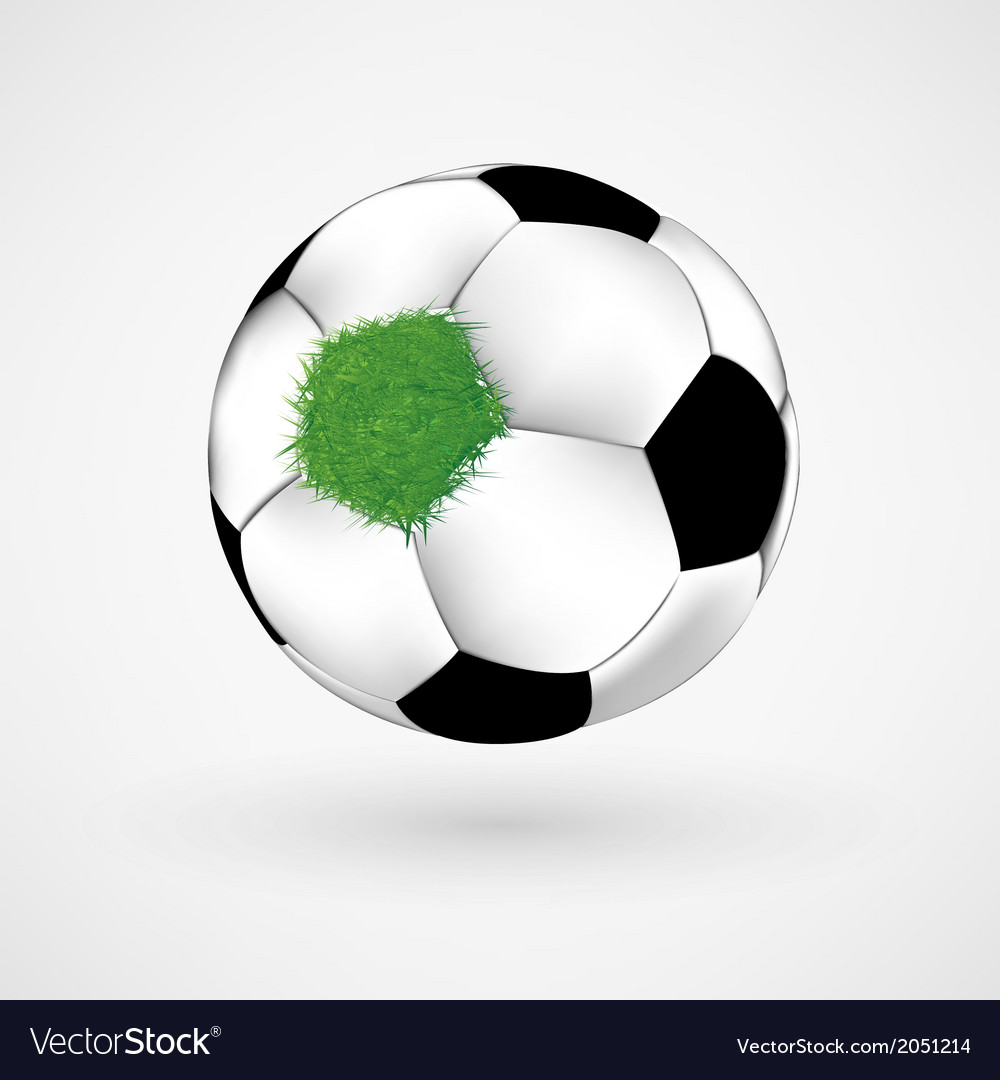 Grass on soccer ball vector | Price: 1 Credit (USD $1)
